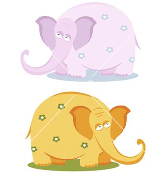Free funny pink elephants vector - Kostenloses vector #267021