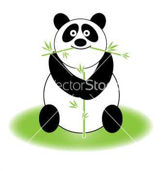 Free cute panda vector - Free vector #267041