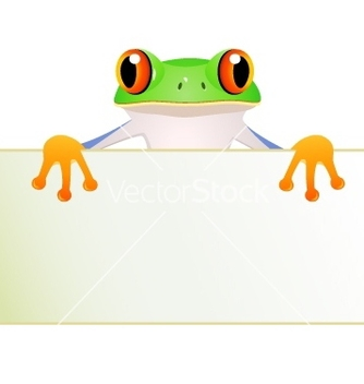 Free funny green frog cartoon vector - бесплатный vector #267051
