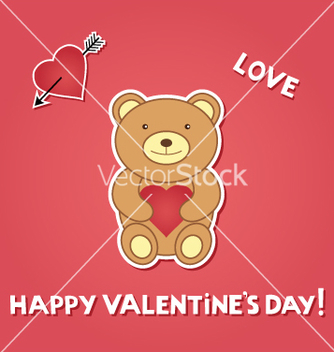 Free valentine teddy vector - vector gratuit #267161