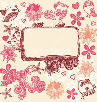 Free floral and birds sketch vector - Kostenloses vector #267601