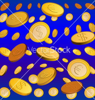 Free golden rain vector - бесплатный vector #267661
