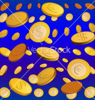 Free golden rain vector - vector gratuit #267661