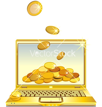 Free notebook with gold coins vector - vector #267691 gratis