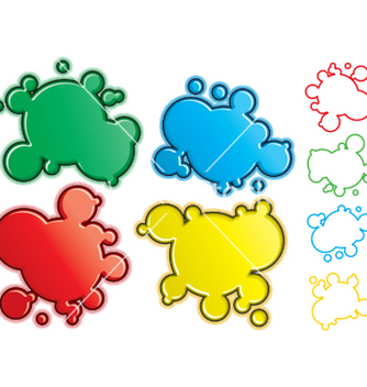 Free cartoon spatters vector - Free vector #267791