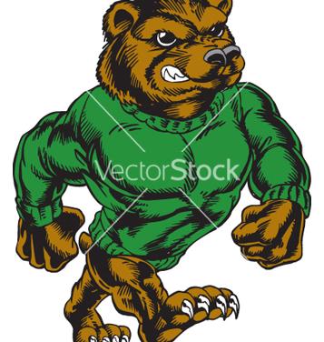 Free bear walking tough vector - vector #267941 gratis