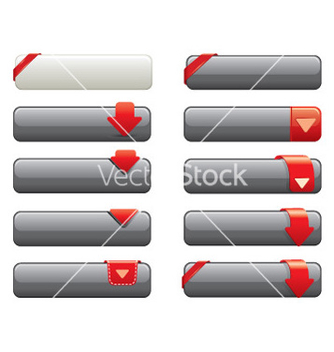 Free website shiny buttons for website vector - vector #268011 gratis