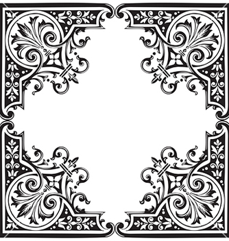 Free antique frame engraving vector - Free vector #268051