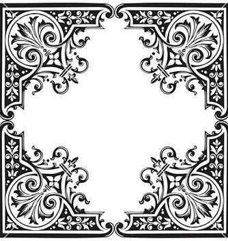 Free antique frame engraving vector - Kostenloses vector #268051