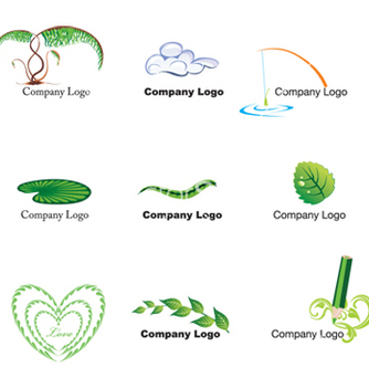 Free nature logos vector - Kostenloses vector #268541