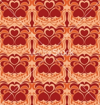 Free seamless heart pattern background vector - Free vector #268751