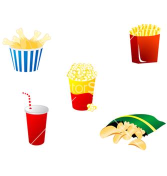 Free fast food symbols vector - Free vector #268761