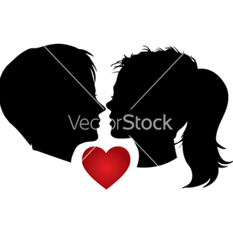 Free couple kisses vector - бесплатный vector #268841