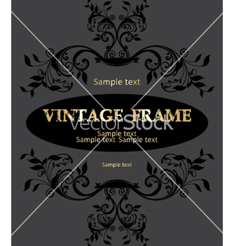 Free vintage frame vector - Free vector #268861