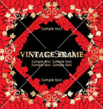 Free vintage frame vector - Free vector #268941