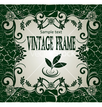 Free vintage frame vector - Free vector #269021