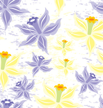 Free flower seamless background vector - Free vector #269211