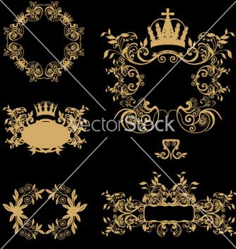 Free golden frames vector - Free vector #269281