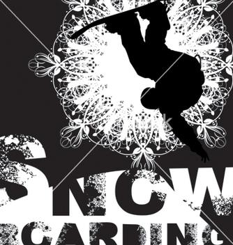 Free snowboarding vector - Kostenloses vector #269381