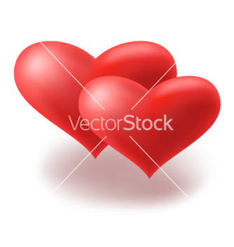 Free red hearts vector - бесплатный vector #270261