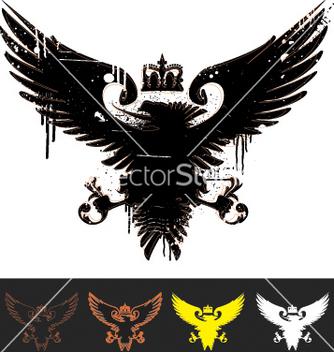 Free heraldry eagle vector - Free vector #270281