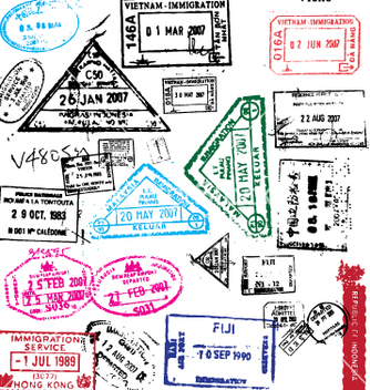 Free passport stamps vector - vector gratuit #270331