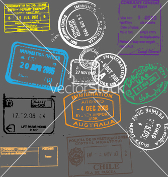 Free passport stamps vector - Free vector #270341