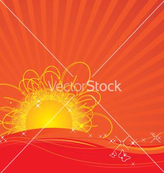 Free rising sun vector - Kostenloses vector #270351