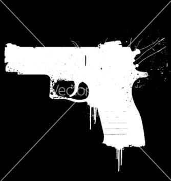 Free grunge pistol vector - Free vector #270371