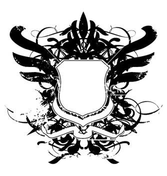 Free heraldry shield grunge vector - vector gratuit #270471