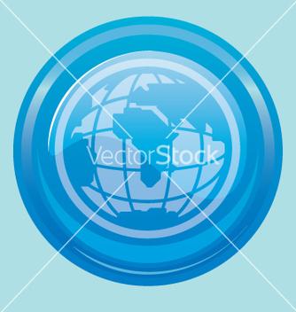 Free globe button vector - Free vector #270651