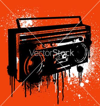 Free graffiti stencil boombox vector - Free vector #270721