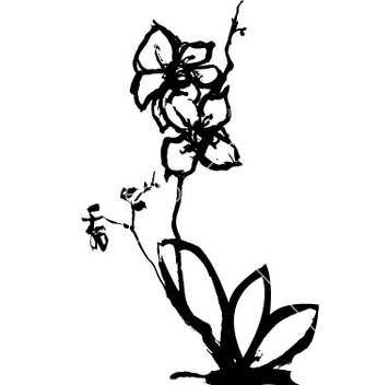 Free orchid vector - Free vector #270881