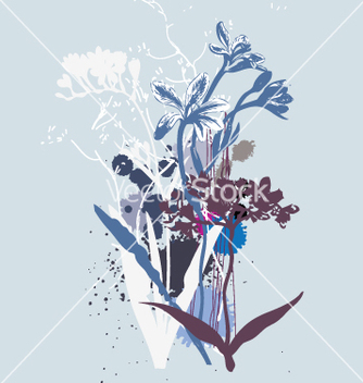 Free wild flowers vector - Free vector #270981
