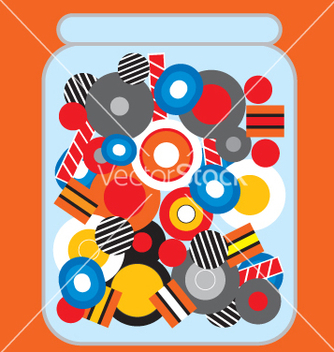 Free jar of candy vector - vector #271211 gratis