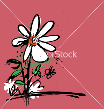 Free ink flower vector - бесплатный vector #271251