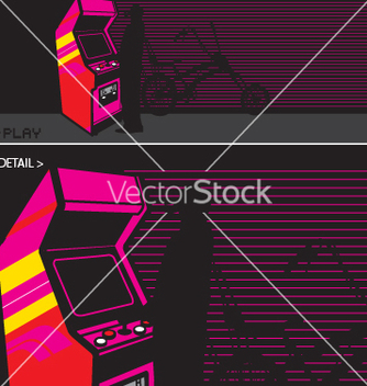 Free arcade video game vector - Free vector #271571