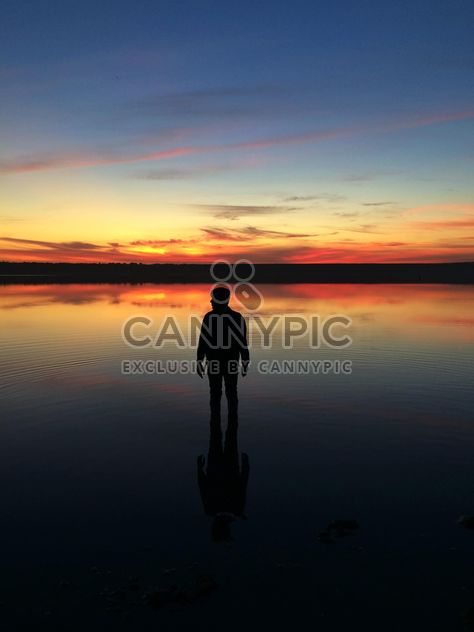 #Odessa #ukraine #sunset #sun #evening #silhouette #man #youngman #boy #river #sea #see #mirror #shadow #free - image #271681 gratis