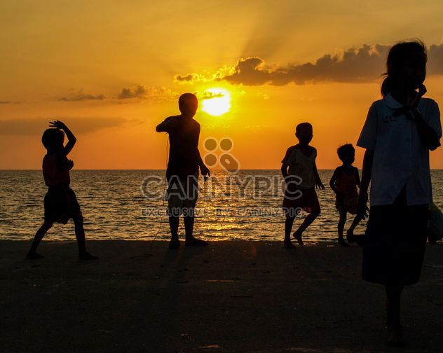 Silhouettes at sunset - Free image #271861