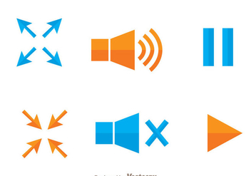 Video Player Tool Icons - vector gratuit #272351