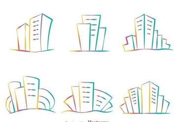 Rainbow Hotel Logo Vectors - Kostenloses vector #272391