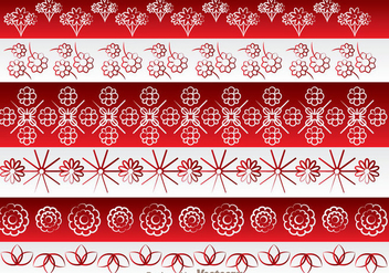 Asian Flowers Border Ornament - vector gratuit #272631