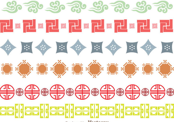 Japanese Culture Ornament Border - бесплатный vector #272691