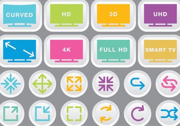 Video & Multimedia Colorful Icons - Free vector #272871