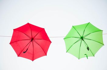 colored umbrellas hanging - image gratuit #273091