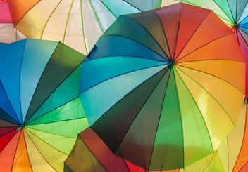 Rainbow umbrellas - Free image #273131