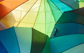 Rainbow umbrellas - Free image #273141