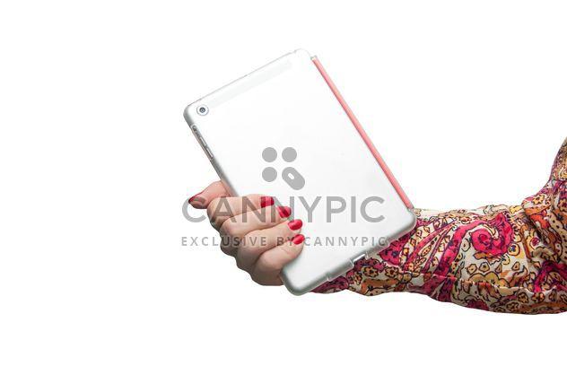 Computador tablet na mão feminina - Free image #273171