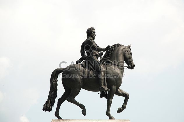 Statue of knight on horseback - Free image #273211