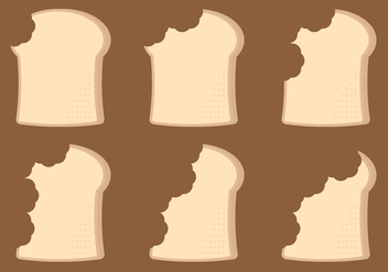 Bread Bite Timelapse Vector - бесплатный vector #273251